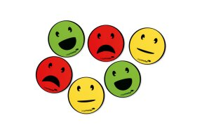 MAGNETS EMOTICON ASSORTED 50mm SET/6pcs